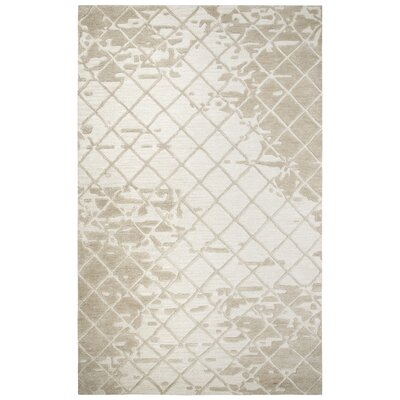 Lovelace Hand-Woven Wool Beige Area Rug Rug Size: Runner 5 x 8