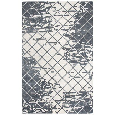 Lovelace Hand-Woven Wool Dark Gray Area Rug Rug Size: Runner 5 x 8