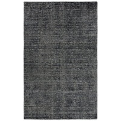 Hadley Hand-Woven Charcoal Area Rug Rug Size: Runner 5 x 8