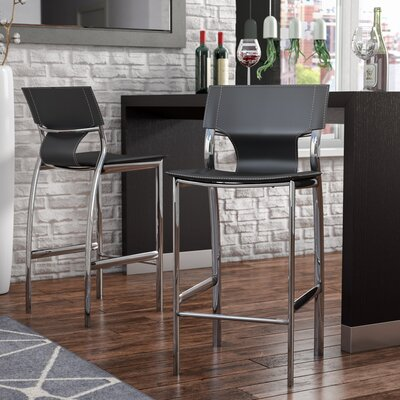Loren 25.2 Bar Stool (Set of 2) Upholstery: Gray