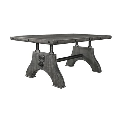 Stickley Work Bench Style Dining Table Color: Gray