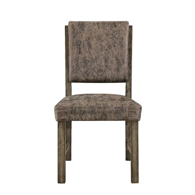 Stickley Upholstered Dining Chair (Set of 2) Upholstery Color: Brown