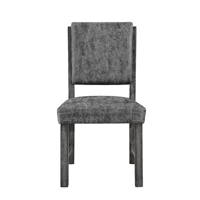 Stickley Upholstered Dining Chair (Set of 2) Upholstery Color: Gray