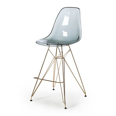 Heinrich 27.5 Bar Stool Seat Color: Smoke