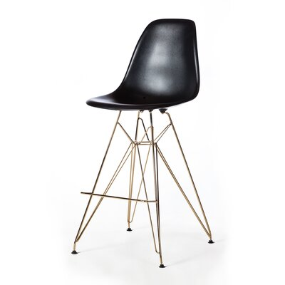 Heinrich 27.5 Bar Stool Seat Color: Black