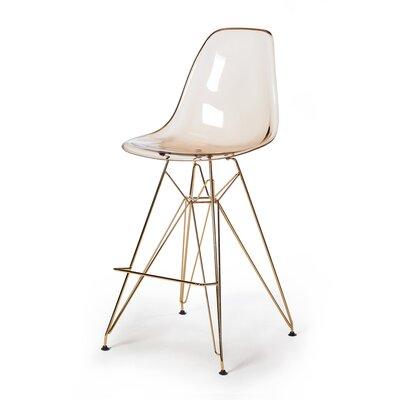 Heinrich 27.5 Bar Stool Seat Color: Amber