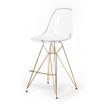 Heinrich 27.5 Bar Stool Seat Color: Clear