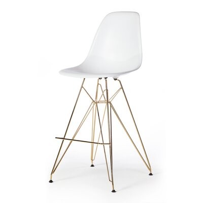 Heinrich 27.5 Bar Stool Seat Color: White