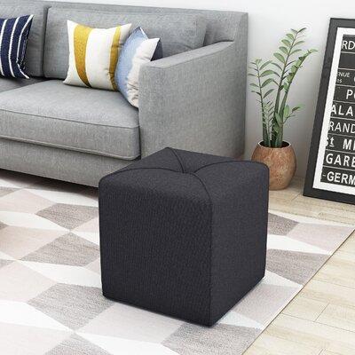 Cassella Cube Ottoman Upholstery: Dark Charcaol
