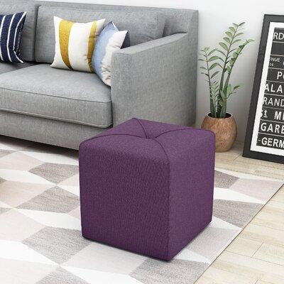 Cassella Cube Ottoman Upholstery: Purple