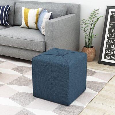 Cassella Cube Ottoman Upholstery: Navy Blue