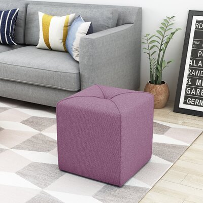 Cassella Cube Ottoman Upholstery: Lavender