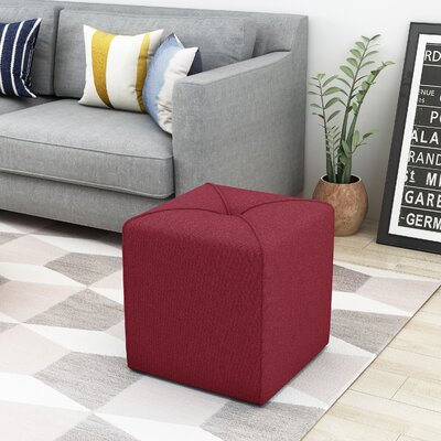 Cassella Cube Ottoman Upholstery: Red