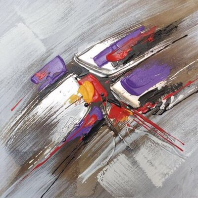 Highway Traffic' Oil Painting Print on Wrapped Canvas 336BB0C2080E4818AB9945B0EF9396B8