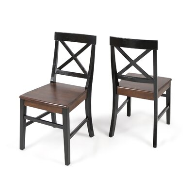 Hitz Dining Chair Color: Black/Walnut