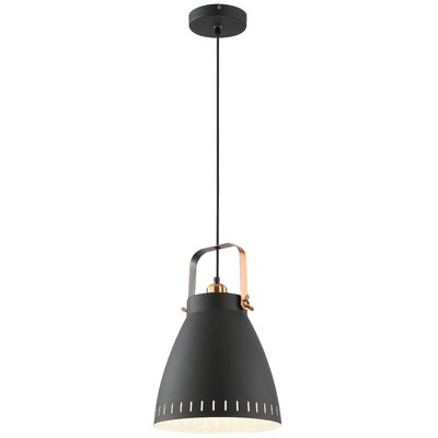 Lehner 1-Light Inverted Pendant Finish: Black