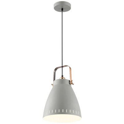 Lehner 1-Light Inverted Pendant Finish: Gray