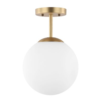 Cournoyer 1-Light Globe Pendant Shade Color: Milk