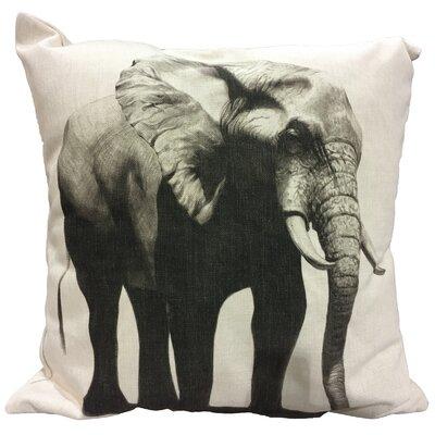 Giese Elephant I Cotton Throw Pillow