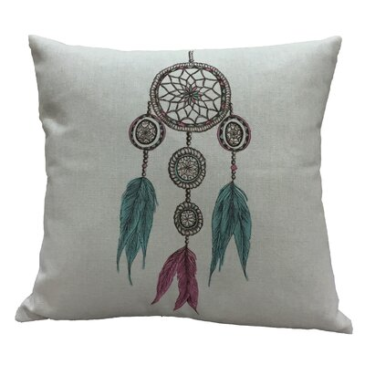 Rapoza Dream Catcher I Cotton Throw Pillow
