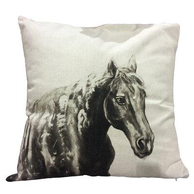 Ohanlon Horse I Cotton Throw Pillow