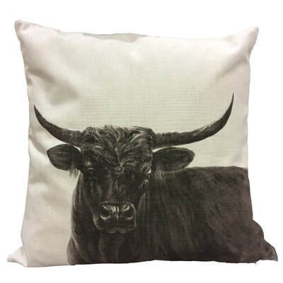Ohagan Bull II Cotton Throw Pillow