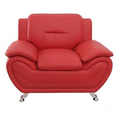 Segura Club Chair Upholstery : Red
