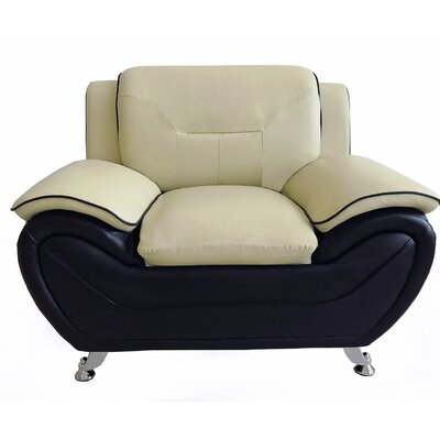 Segura Club Chair Upholstery : Camel/Black