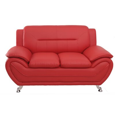 Segura Loveseat Upholstery : Red