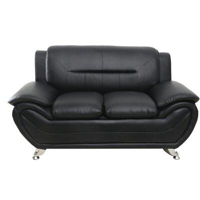 Segura Loveseat Upholstery : Black