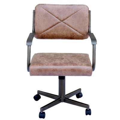 Spriggs Casual Caster Upholstered Dining Chair