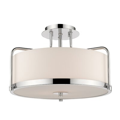 Meriwether 3-Light Semi Flush Mount Finish: Chrome
