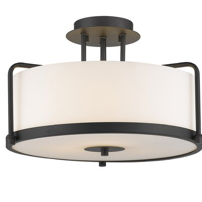 Meriwether 3-Light Semi Flush Mount Finish: Painted Bronze