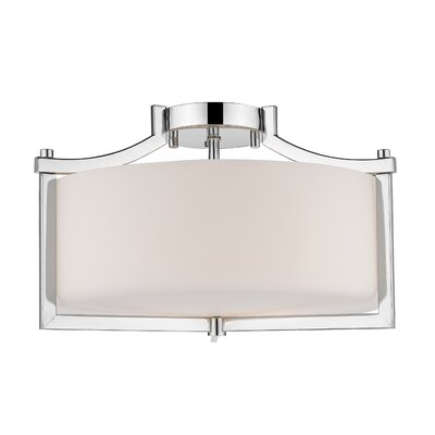 Merkel 3-Light Semi Flush Mount Finish: Chrome
