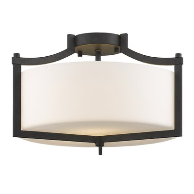 Merkel 3-Light Semi Flush Mount Finish: Painted Bronze
