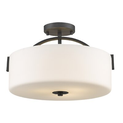 Merkley 3-Light Semi Flush Mount Finish: Painted Bronze