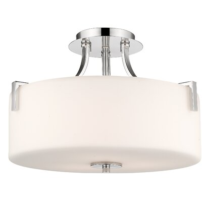 Merlin 3-Light Semi Flush Mount Finish: Chrome
