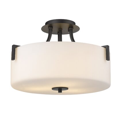 Merlin 3-Light Semi Flush Mount Finish: Painted Bronze