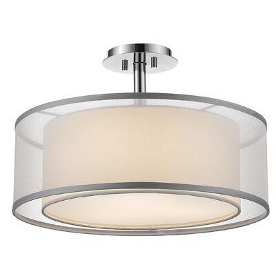 Selzer 3-Light Semi Flush Mount