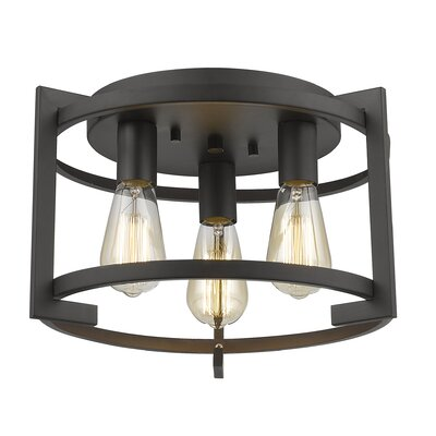Egan 3-Light Flush Mount Finish: Bronze