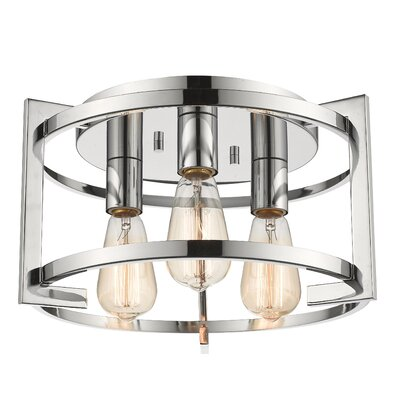 Egan 3-Light Flush Mount Finish: Chrome