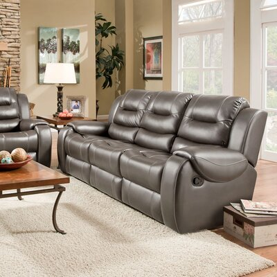 Daigre Double Reclining Sofa Upholstery: Gray, Recliner Mechanism: Manual