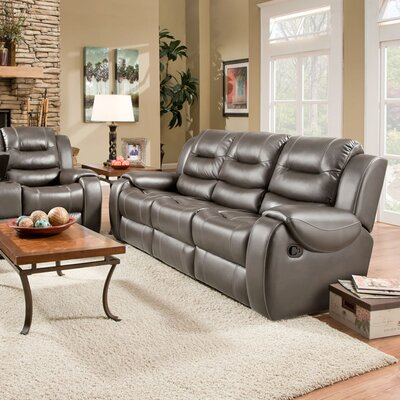 Daigre Double Reclining Loveseat Upholstery: Gray