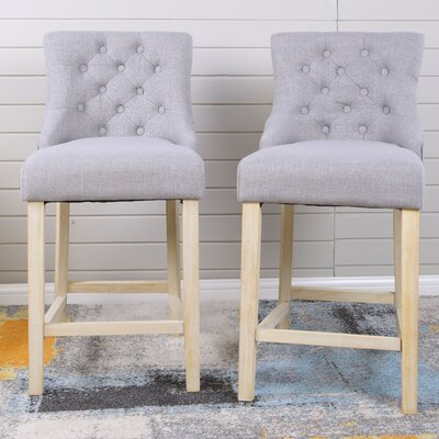 Hubble Bar Stool Upholstery: Gray