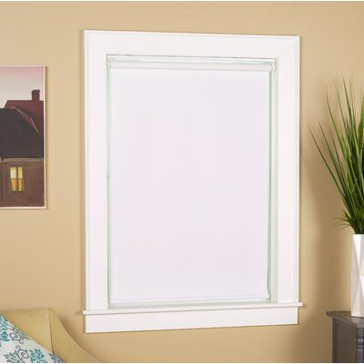 Cordless Blackout White Roll-Up Shade Blind Size: 32W x 72L