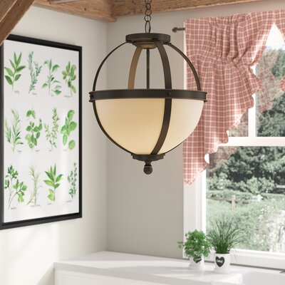 Doris 3-Light Bowl Pendant Shade Color: Caf�