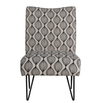 Firkins Slipper Chair Upholstery: Black Bulbs
