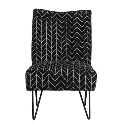 Firkins Slipper Chair Upholstery: Black Chevron