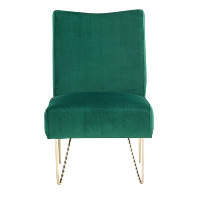 Helmuth Slipper Chair Upholstery: Green