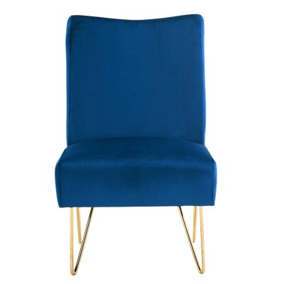 Helmuth Slipper Chair Upholstery: Navy